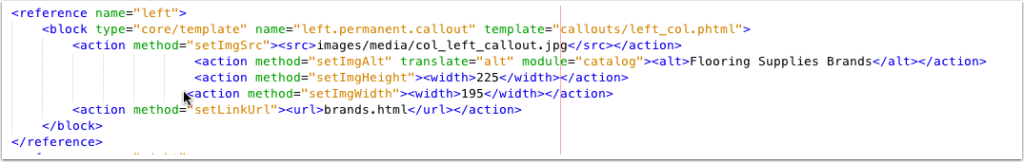 Catalog layout with Image Dimensions