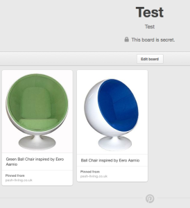 Pinterest - shared thumbnails